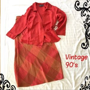 Crossing Pointe Vintage Skirt Blouse Set Outfit 10